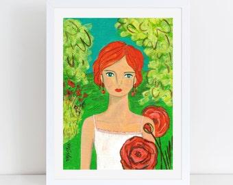 Cerise in Rose Garden portrait