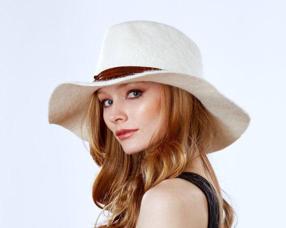 Cowboy Hat- Western Style- Wide Brim- Rancher's Hat- Fedora- Fall Fashion- White Cowboy Hat- Urban Cowboy-Winter Accessories- Winter Hat