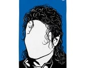 Michael Jackson Tea Towel, Michael Jackson Dishcloth, Michael Jackson Towel, Blue Tea Towel
