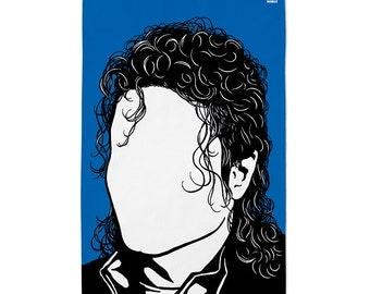 Michael Jackson Tea Towel, Michael Jackson Dishcloth, Michael Jackson Towel, Blue Tea Towel