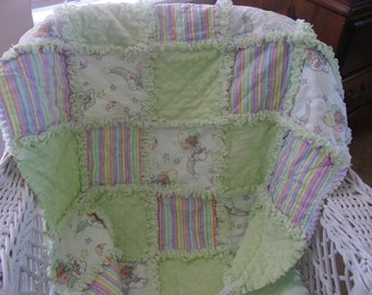 Precious Moments baby rag quilt