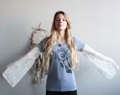 Dreamcatcher Mountain Girl At Heart Lace Bell Sleeve Tee T-shirt Top Shirt Womens Hippie Boho Festival