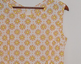 sunburst...vintage cotton 1950s style tea dress