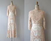 Raffica Bianco wedding gown | vintage 1930s wedding dress | lace wrap 30s wedding dress