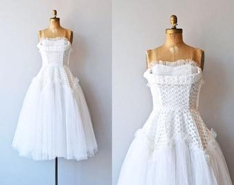 Paulette wedding dress • 1950s wedding dress • strapless 50s wedding dress