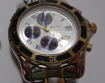Vintage Bulova Marine Star Chronograph Men's Watch