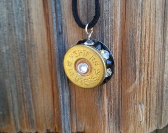 Bullet Bling, Recycled 12 gage Pendant