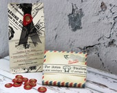 Miniature Envelopes Antique Air Mail Swallow and Wax Seals in a BOX SET