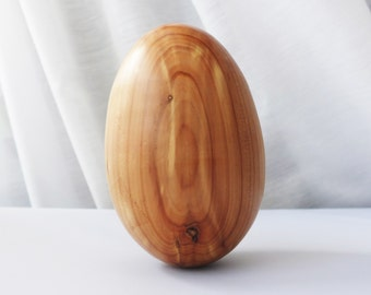 Gorgeous Antique Burled Maple Cedar Wood Jumbo Darning Egg for Socks and Handknits