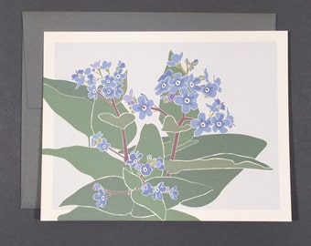 Forget-Me-Not Card Set Blank Botanical