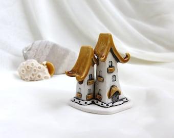 Honey-milk House of tiny fairies -- unique Hand Made Ceramic Eco-Friendly Home Decor by studio Vishnya