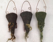 Wet Felted Vessels Set of Three Dry Vases Fiber Art Project Treasure Holder Delaware Fun A Day Project Set No.5