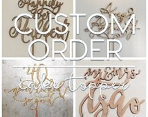CUSTOMIZABLE Cake Topper (You Choose the Font and Wording)
