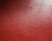 Faux Leather Fabric in Lambskin Pattern with Suedette Lining - Dark Blood Red - Half Yard