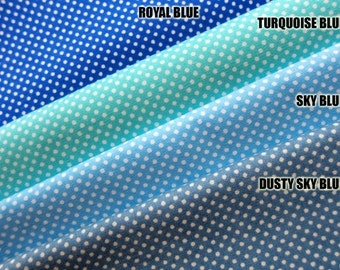 SALE Tiny Dots Fabric - Sky Blue Dots Fabric By The Yard - Japanese Cotton Fabric (TD20) Half Yard