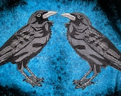 Awesome Huge Raven Crow Black Bird  Iron ON Patch 100% embroidery