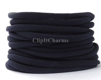 Wholesale .39+Navy Stretch Nylon Chokers...Use for bottle cap jewelry,pendants,charms, headbands/doubles as a bracelet or anklet....
