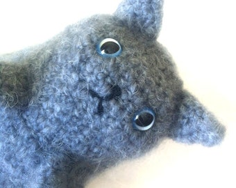 Grey Kitty Plushie // Crochet Amigurumi Stuffed Animal