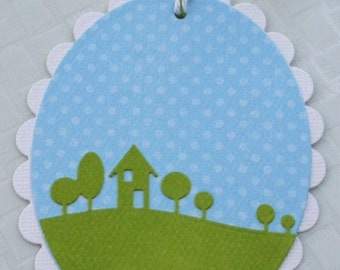 Home Sweet Home Gift Tag Label - Set of 4 Medium Tags - Vertical