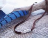 Fly leather wrap bracelet