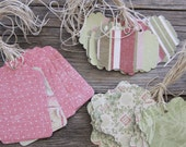 Handmade Paper Tags, Natural Tags, DIY Gift Tags, Gift Tags, Wedding Favor Tags, Price Tags