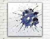 Abstract Art Blue Painting, 20x20 Canvas Wall Art Living Room Decor, Modern Art Original Acrylic Painting - Perplexity