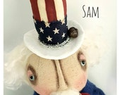 Primitive Americana Grimitives Uncle Sam Doll