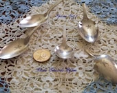 5 Cut off Vintage Spoons for Altering or Jewelry Making Ready for you to create! Spoon Set 1