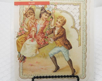Vintage Valentine Card Sweethearts Victorian Repro