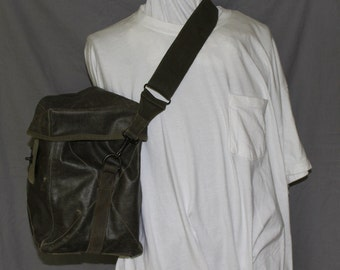 Vintage Military Back Pack or General Carrying Case, Waterproof Canvas