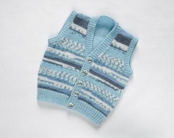 Boys Waistcoat - Little boy blue