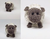 """Sweet """"Cuddles"""" Pudgy Round Photo Prop ~~ Knit in soft Heather Cream and Cocoa Heather"""