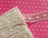 Antique Lace Vintage Lace Valenciennes Lace Cotton Insertion Lace