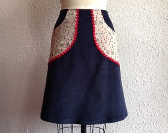 Frenchie  a-line pocketed skirt Sz 0
