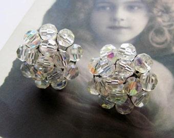 Vintage Vogue  Cluster Earrings