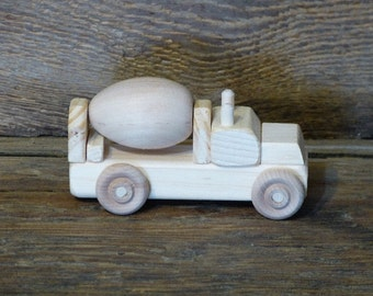 Mini Wooden Toy Cement Truck Woodworking wood toy Handmade boys birthday gift