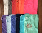 Monogrammed Comfort Colors Tank- Many Colors, Swim Coverup, Bridesmaids Gift, Gifts for her, Gifts under 20, Beach Cover Up, Sorority Tank