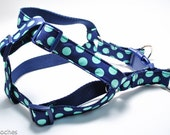 Small Step In Dog Harness - Choose Your Design / 12-18 in Girth / Flannel Lining Option / Metal Buckle Option