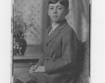 original 1920-30s photo. young boy dressed in his sunday best