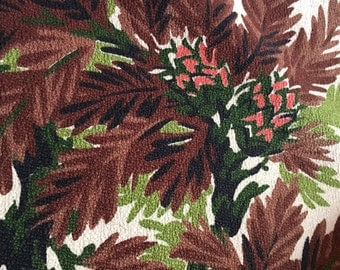 Fantastic Mid-Century Barkcloth Heavy Cotton Great Colors By the Yard