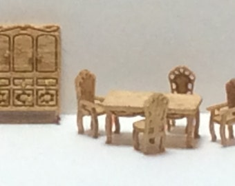 New - 144th Inch Scale Furniture Kits Victorian Style Dining Room