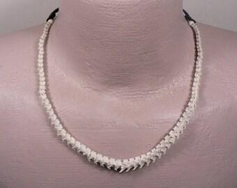 Rattlesnake Vertebra Mens or Womans Adjustable Choker / Necklace / Deer Antler Bead