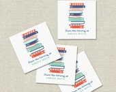 personalized bookplates, custom bookplate stickers, set of 20, book club gift, gift for book lover, teacher gift