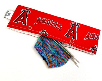 Stitch Holder Point Protector Zipper Pouch Needle Nook - DPN and Circular Project Holder - The Angels