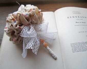 Bridal Bouquet * Fabric Flowers * Vintage Fabric * Handmade Weddings * Destination Wedding * Antique Materials * Unique Brides * Alternative