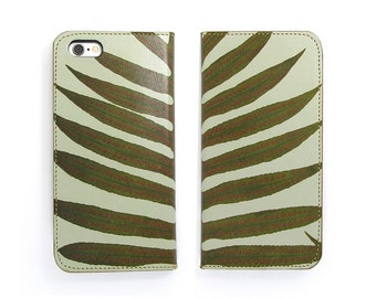 Leather iPhone 6 case, iPhone 6s Case, iPhone 6s Plus Case, iPhone 5/5s - Minimal Fern (Exclusive Range)