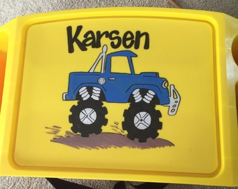 Personalized Monster Truck Lap Tray
