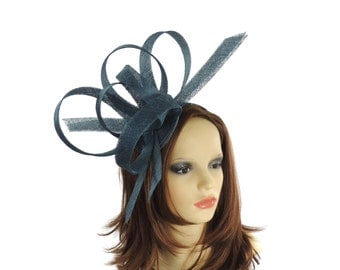 Hurricane Teal Fascinator Fascinator Hat for Weddings, Races, and Special Events With Headband