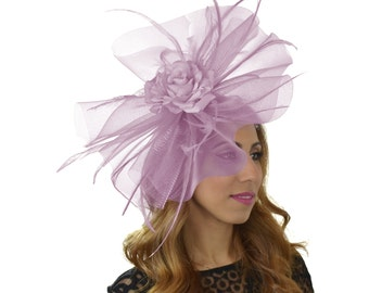 Lilac Nomaraa Fascinator Hat for Kentucky Derby Ascot - other cols avail
