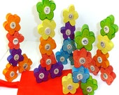 Alphabet Stacking Flower Garden